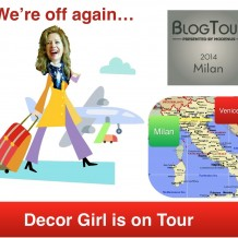 Blog Tour Milan 2014 and Decor Girl