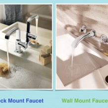 Deck mount and wall mount bathroom faucets by Grohe