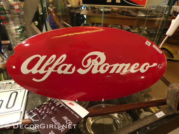 vintage Alfa Romeo sign