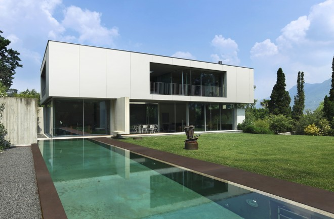 Dekton as building facade and pool floor