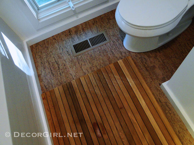 Cork Floors For Bathrooms. Designer S Bathroom Makeover Remodel From Ugly  To Spa