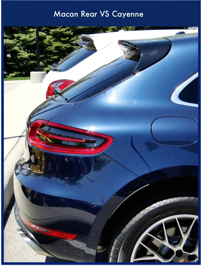 Macan VS Cayenne rear profile
