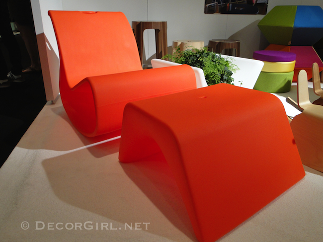 Orange outdoor lounge