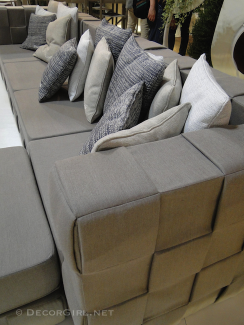 Texture in outdoor furniture