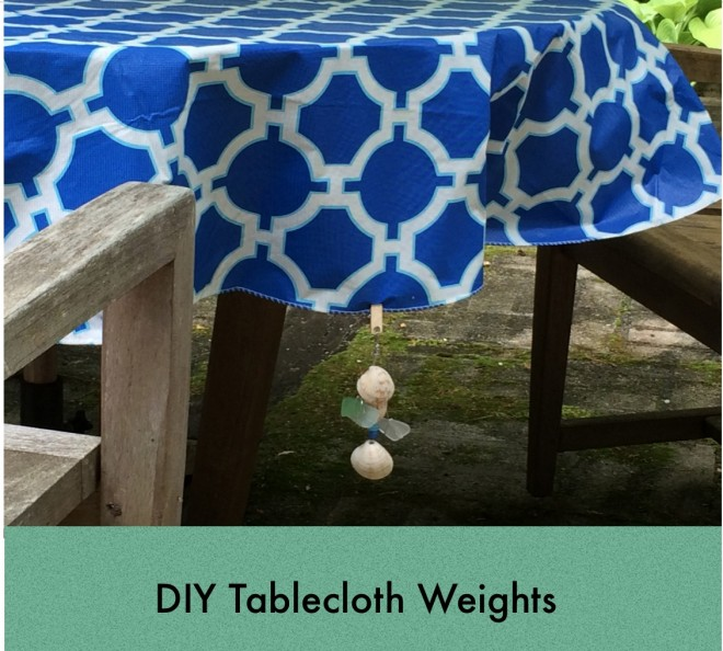 tablecloth weights clips diy 2