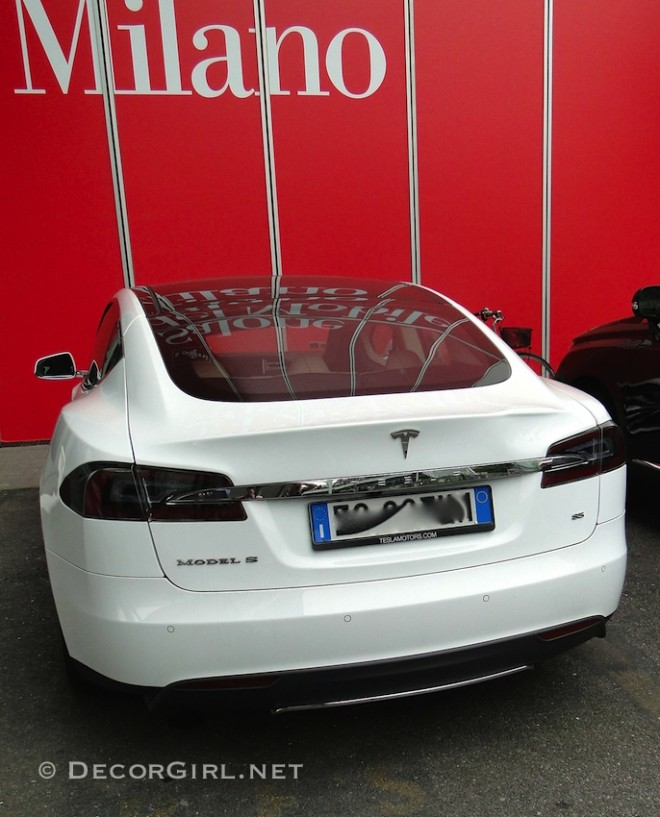 Tesla Model S in Milan
