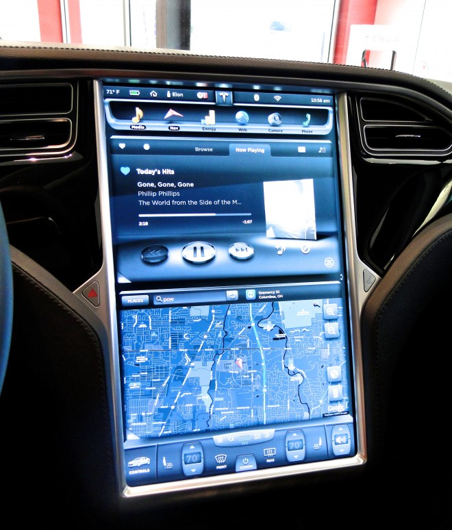 "Tesla 17"" control panel"
