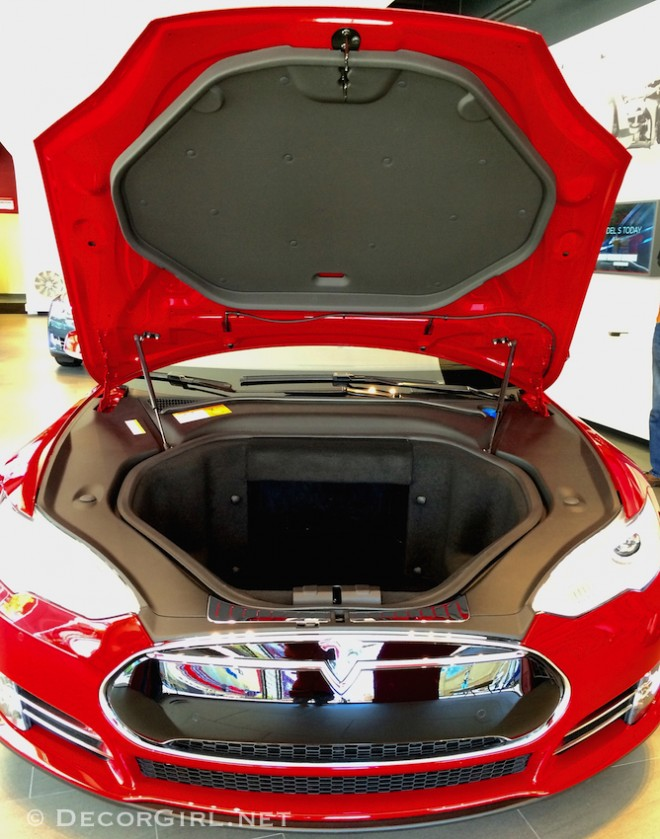 Tesla front trunk