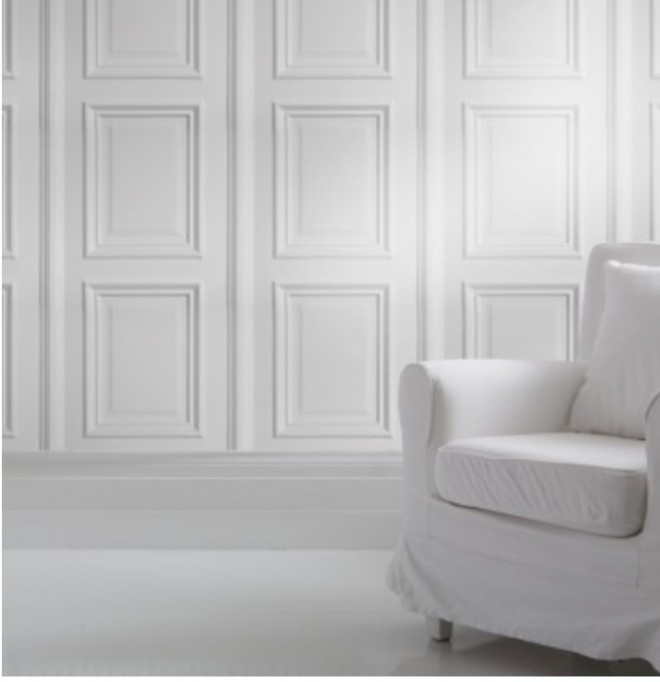 Paneled Wall Wallpaper