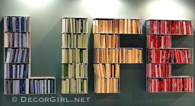 Letters as a bookcase