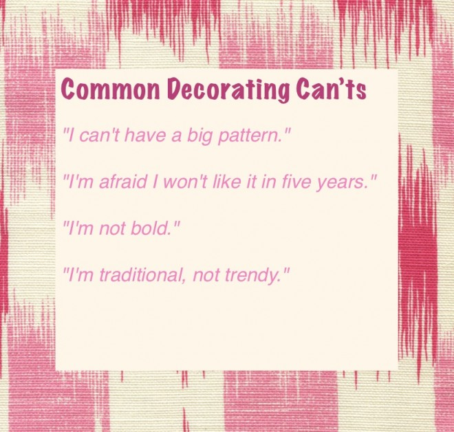 Common decorating Can'ts