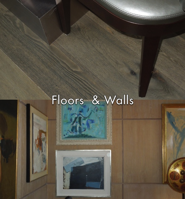 Driftwood colored floors and walls