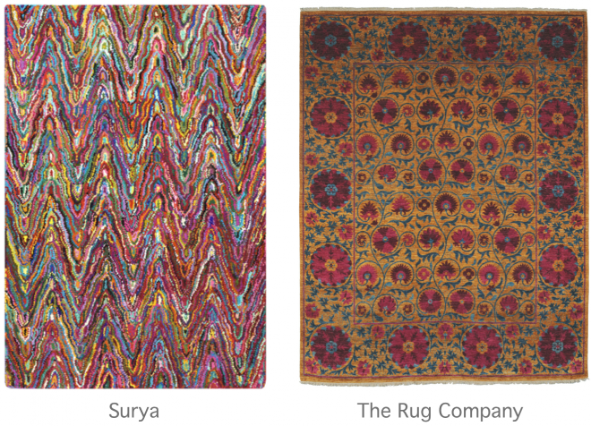 Rugs fro Surya and The Rug Company