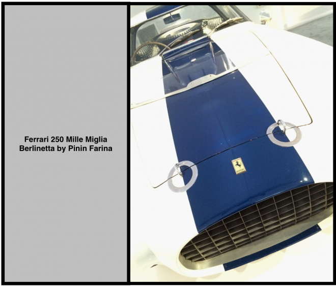 The Blue And White Ferrari