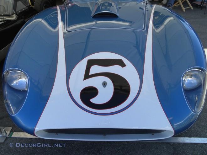 Face of a Vintage race car