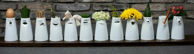 12 Faces Vases from Spin Ceramics