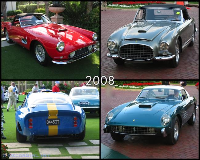Ferraris from 2008 Cavallino Classic
