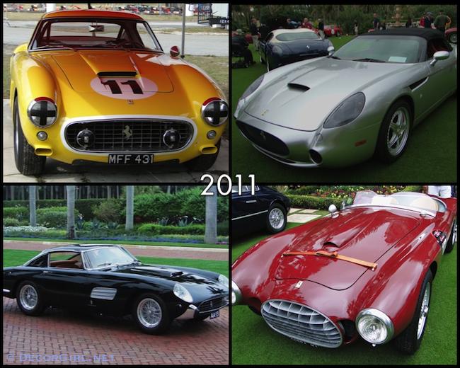 Ferraris from 2011 Cavallino Classic