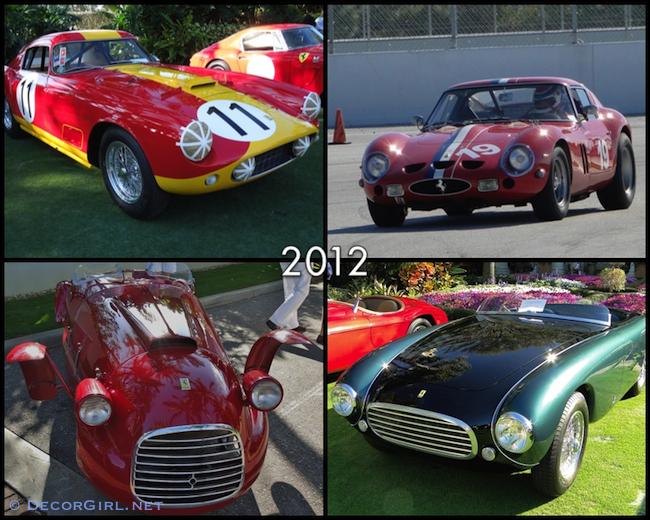 Ferraris from 2012 Cavallino Classic