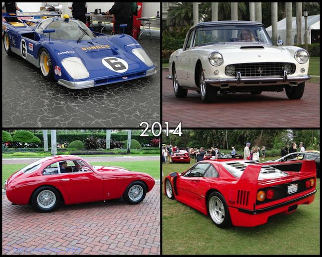 Ferraris from 2014 Cavallino Classic