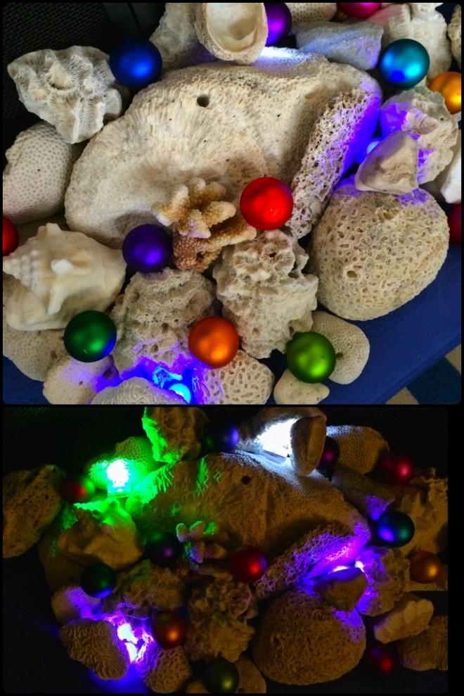 LED tea lights in holiday decor