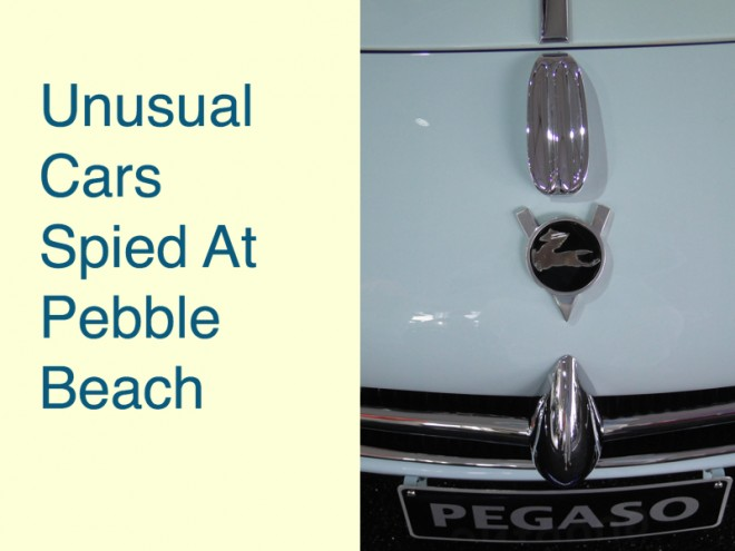 Unusual Cars Spied At Pebble Beach