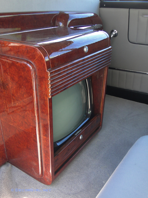 Vintage TV in Rolls Royce