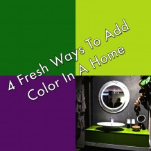 4 ways to add color to an interior