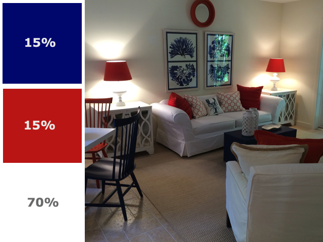 Color scheme red white and blue