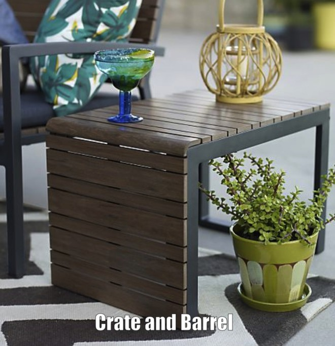 Crate and Barrel Rocha side table