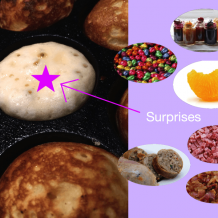 Easter filling suprises for Aebleskiver