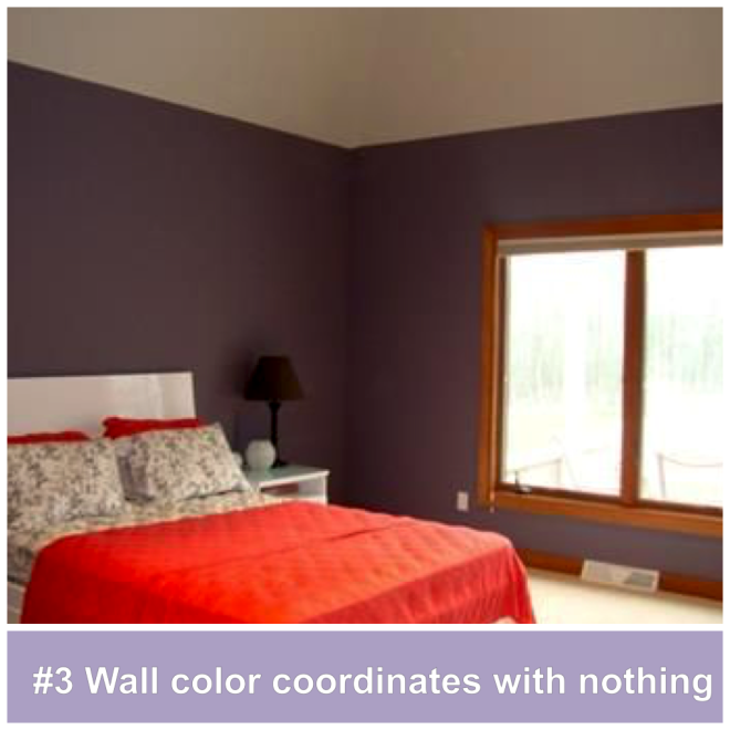 #3 Wall color coordinates with nothing