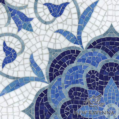 Sea Glass Handmade mosaic from New Ravenna