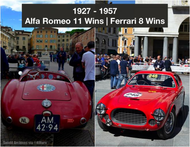 Original Alfa and Ferrari Mille Miglia Entrants