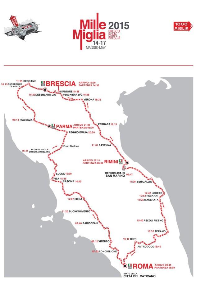 2015 Mille Miglia Map