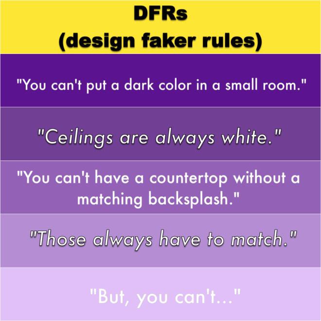 Fake interior design rules
