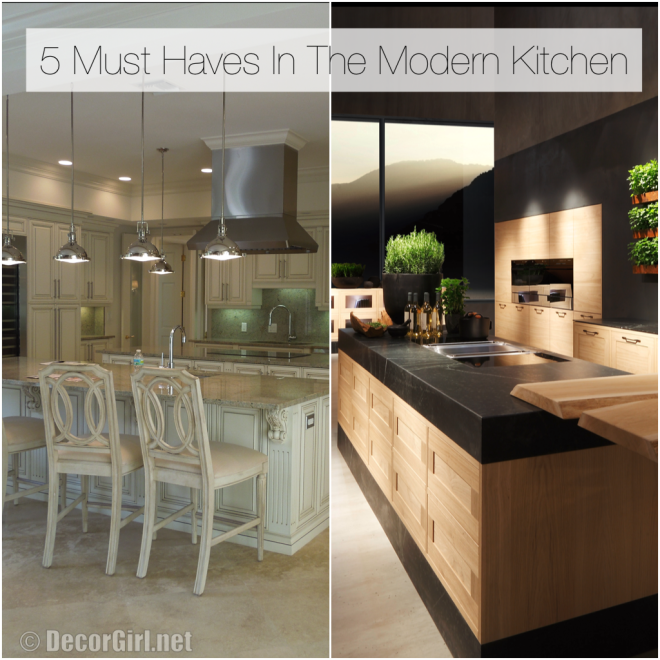 top 5 must haves in the modern kitchen
