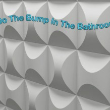 Do the bump in the bathroom