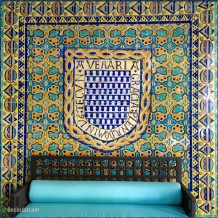 Tile in private hall at Shangri-La
