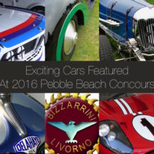 Exciting Cars Featured  At 2016 Pebble Beach Concours