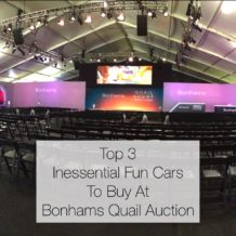 Top 3 Inessential Fun Cars To Buy At Bonhams Quail Auction