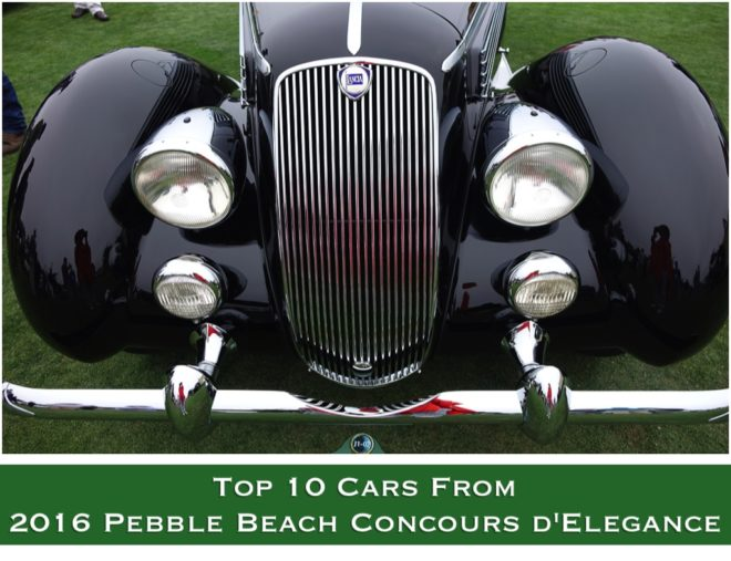 Top 10 Cars From 2016 Pebble Beach Concours d'Elegance
