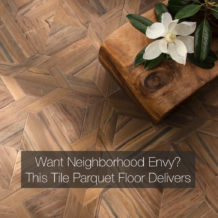 Want Neighborhood Envy? This Tile Parquet Floor Delivers