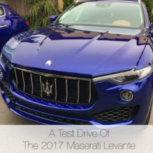 Test drive of Maserati Levante