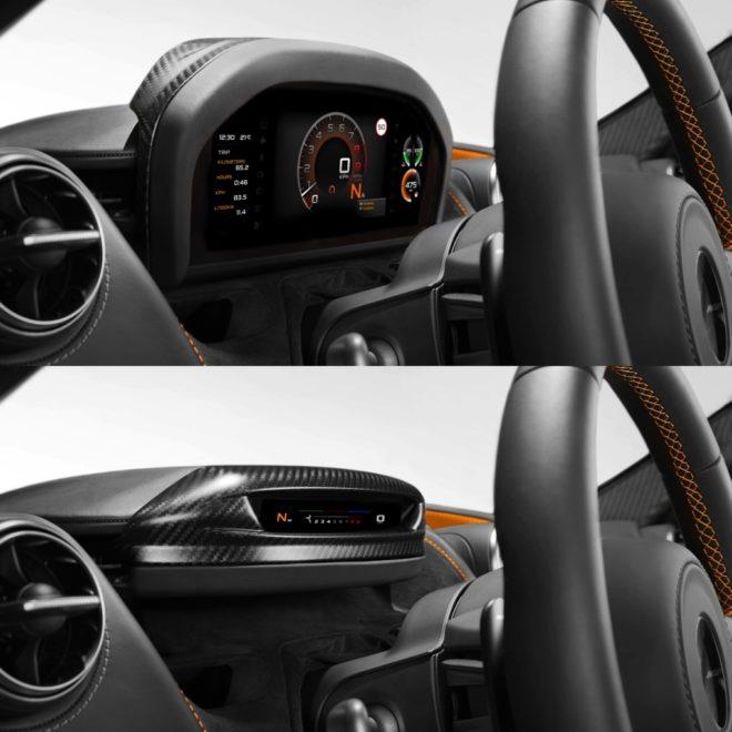 McLaren Folding Driver Display