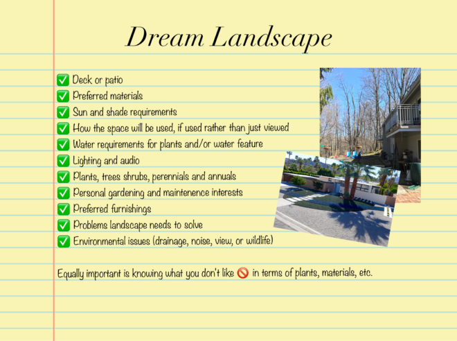 dream landscape wish list