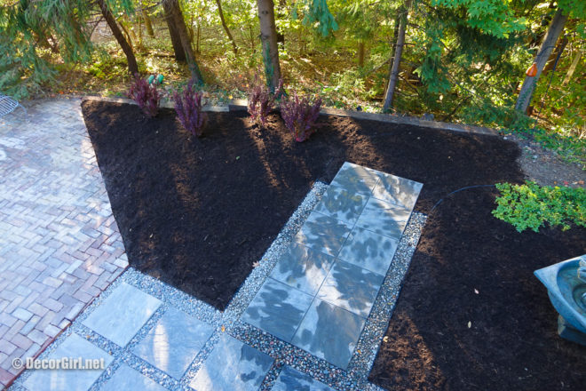 finished walkway and planting bed