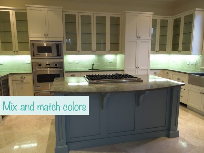 mix and match cabinet colors