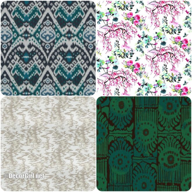 Outdoor fabrics in new patterns