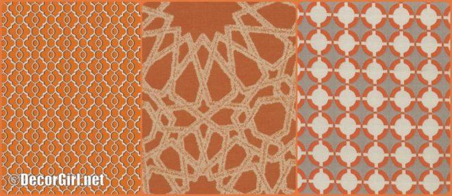 Orange outdoor fabrics